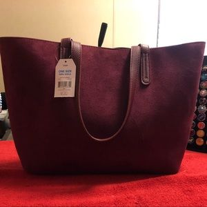 Handbags - Large Burgundy Tote